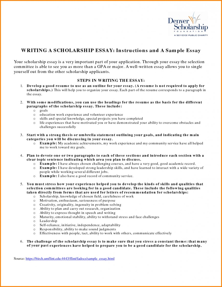 009 Essay Example Fair Resume Examples For Scholarships In Scholarship Sample Of Awful Essays High School Seniors 500 Words 868