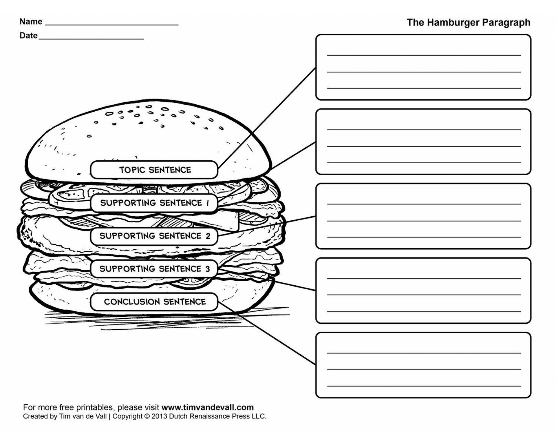 009 Essay Example Five Paragraph Graphic Wonderful Organizer 5 Middle School Pdf Organizer-hamburger 1920