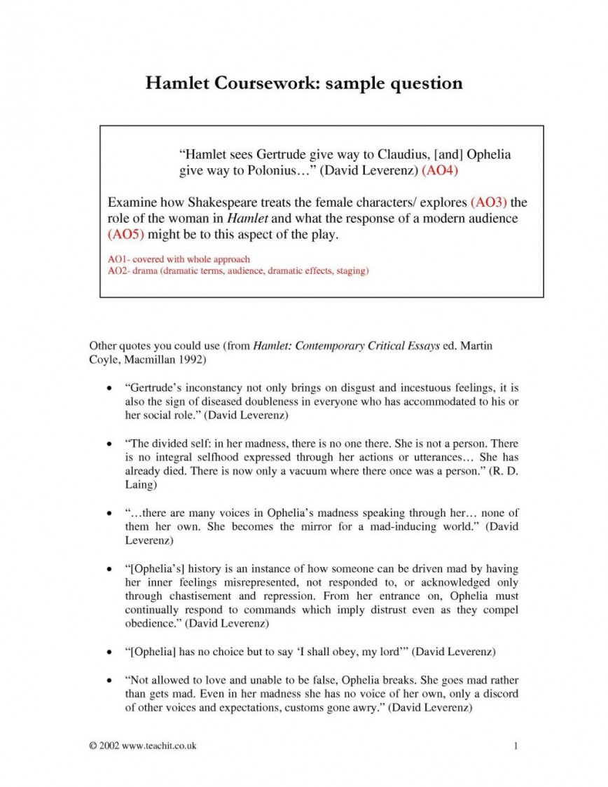 009 Essay Example Hamlet On Revenge Topics Outline 1048x1356 Stupendous Madness Vs Sanity Faking Conclusion