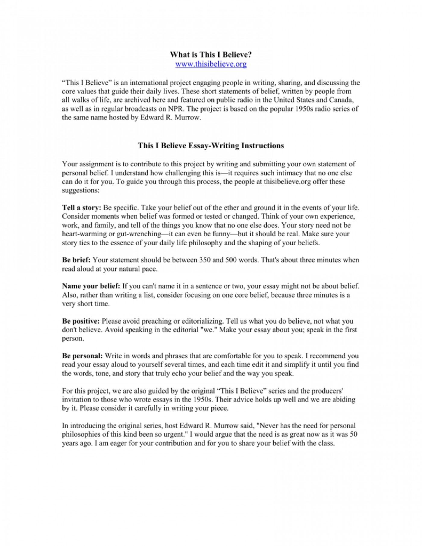 009 Essay Example How To Write This I Believe 008807226 1 Fantastic A Things On What 1400