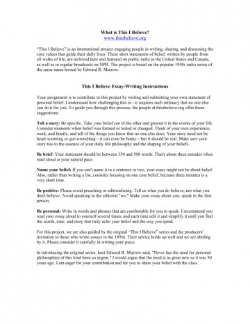 009 Essay Example How To Write This I Believe 008807226 1 Fantastic A Things On What 360