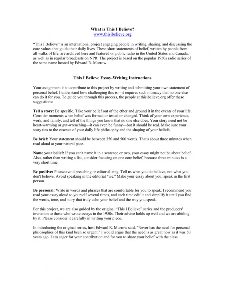 009 Essay Example How To Write This I Believe 008807226 1 Fantastic A Things On What 728