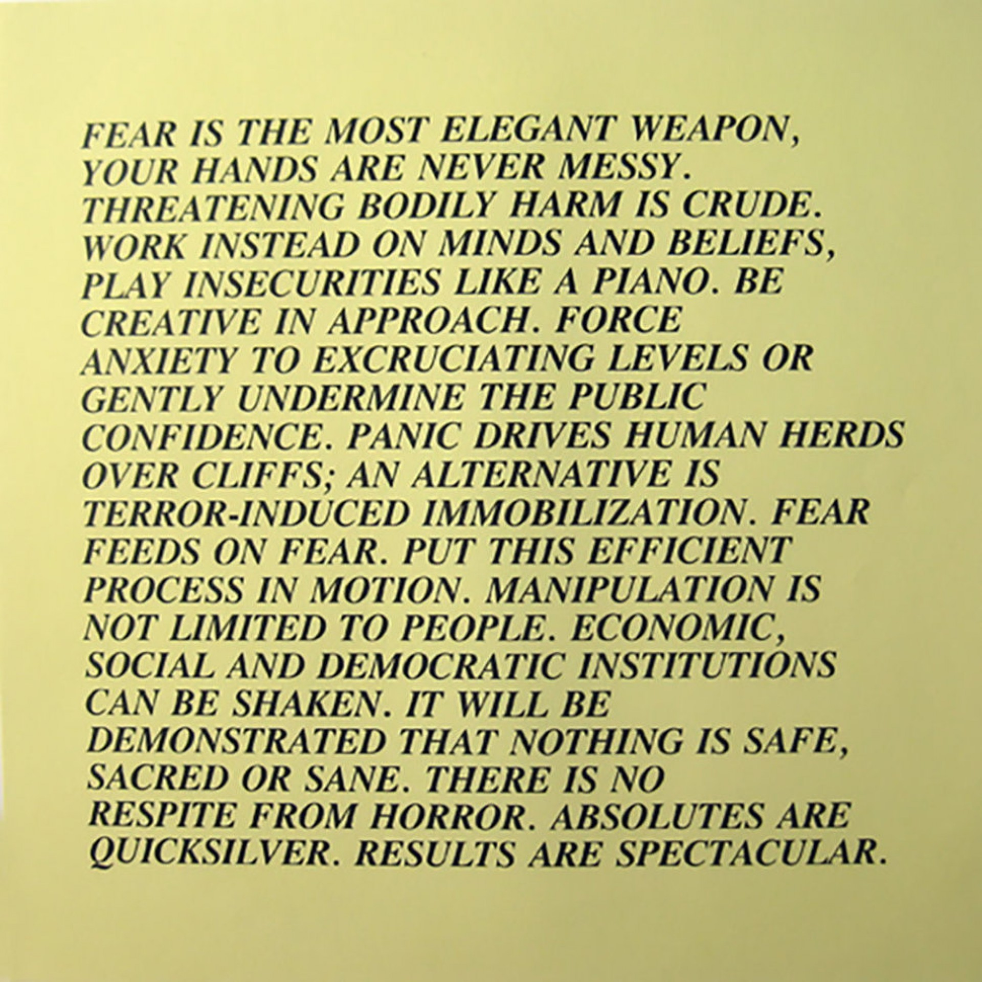 009 Essay Example Jenny Holzer Inflammatory Essays 588755442900002700dd15cbopsscalefit 970 Noupscale Awful For Sale Print Buy 1920