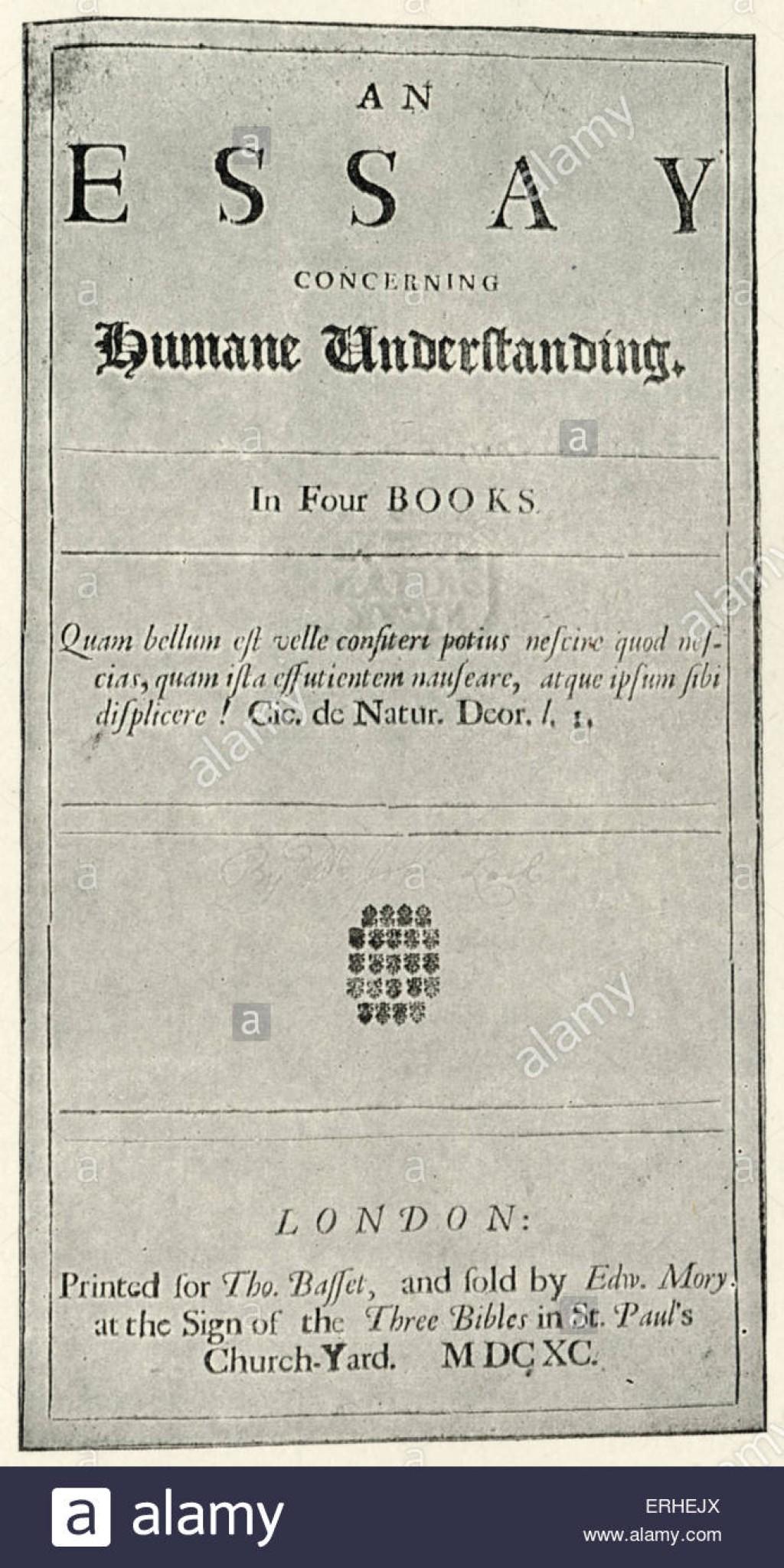 009 Essay Example John Locke Titlepage To His On Humane Understanding English Impressive Concerning Human Book 4 Pdf Summary Large