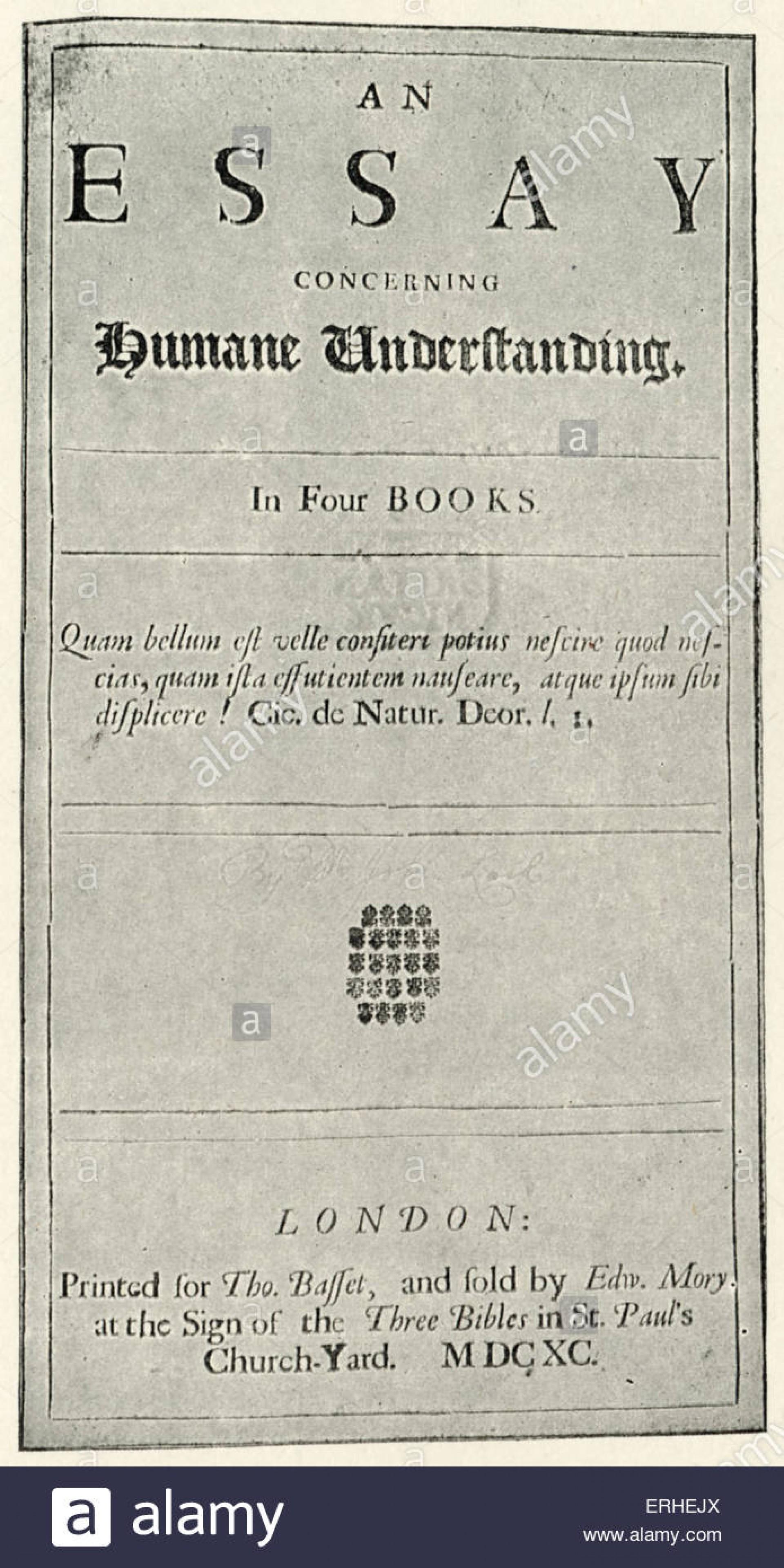 009 Essay Example John Locke Titlepage To His On Humane Understanding English Impressive Concerning Human Book 4 Pdf Summary 1920