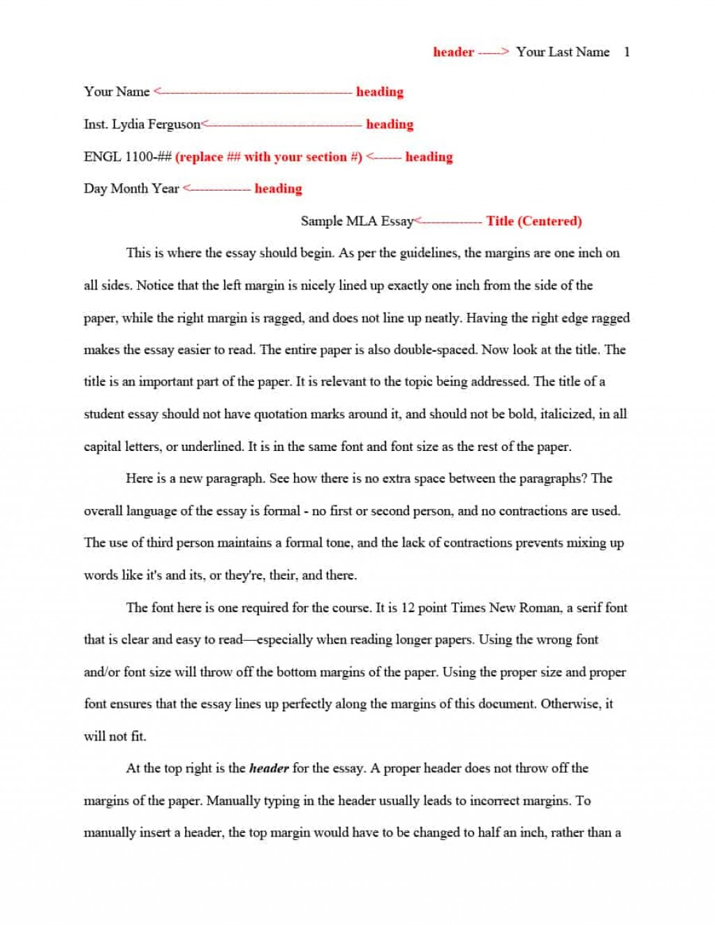 009 Essay Example Mla Format Template Sensational Font Google Docs Heading Large