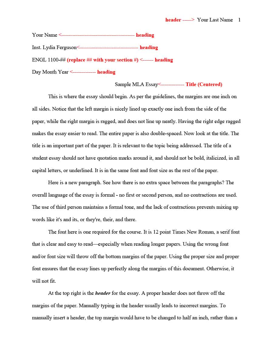 009 Essay Example Mla Format Template Sensational Font Google Docs Heading Full