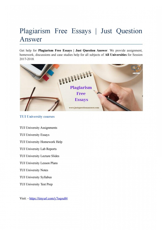 009 Essay Example Page 1 Plagiarism Free Impressive Essays 100 Check 1920