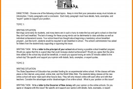 009 Essay Example Persuasive Topics Middle School High Essays Uniforms Examples For Address Ex About Speech Education Rules Issues Uniform Imposing Prompts Argumentative Pdf