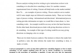 009 Essay Example Process Topics Processanalysisassignment Phpapp02 Thumbnail Marvelous For College Examples Middle School Funny