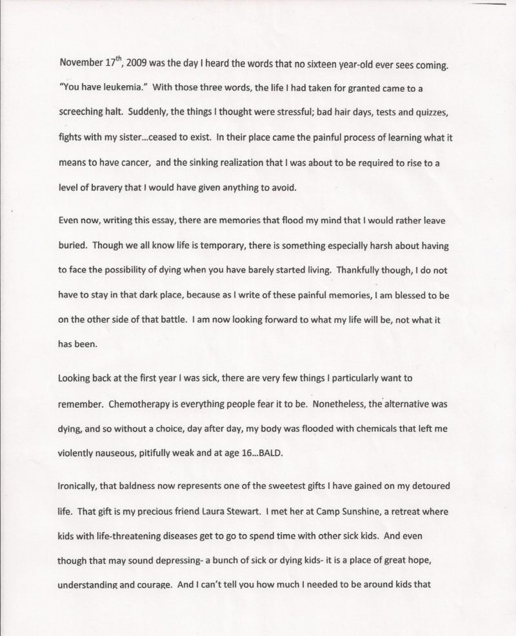 009 Essay Example Rate My First Day In College Hope Shawshank Redemption Sca Grade Free Unforgettable Ielts Sat Paper Large