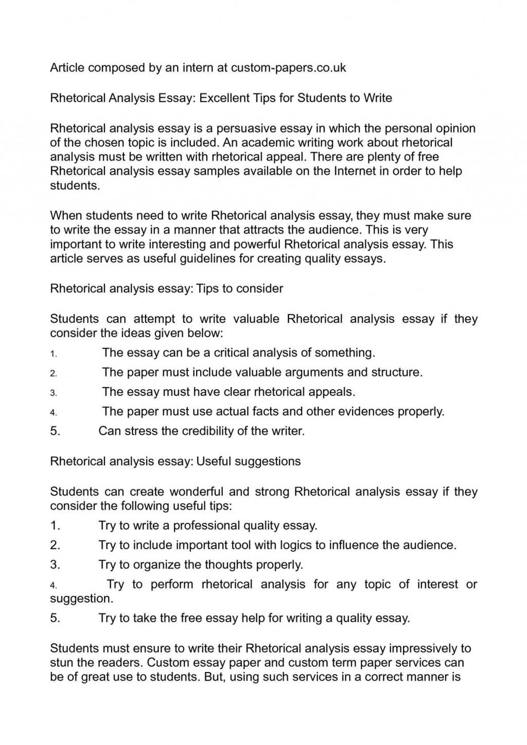 009 Essay Example Rhetorical Definition Dreaded Analysis Meaning Large