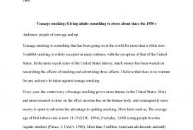 009 Essay Example Teen Smoking Free Sample Page 1 Surprising Editorial Pdf Examples
