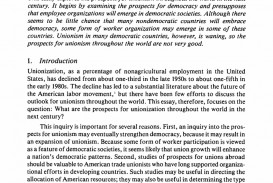 009 Essay Example Unions In The Next Century An Exploratory Springer L Formidable Examples Introduction Topics Research