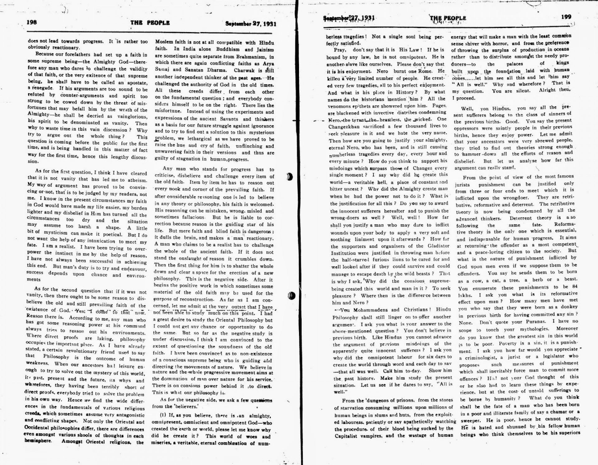009 Essay Example Why2bi2bam2ban2batheist2b1 Jpg On Bhagat Singh In Unique Marathi Short 100 Words 1920