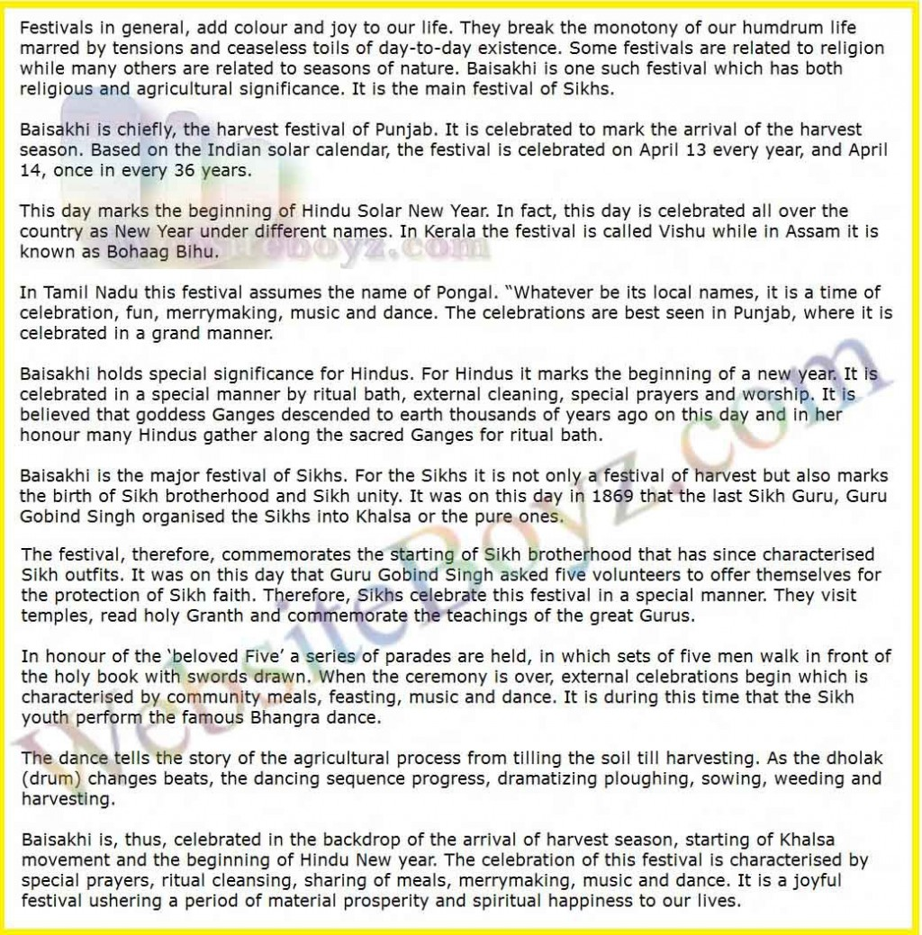 009 Essay On Dussehra Festival In English Example Surprising Large