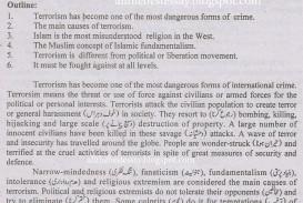 009 Essay On Terrorism In English Pak Education Info For Writing Top Topic 1048x1483 Wonderful Topics War