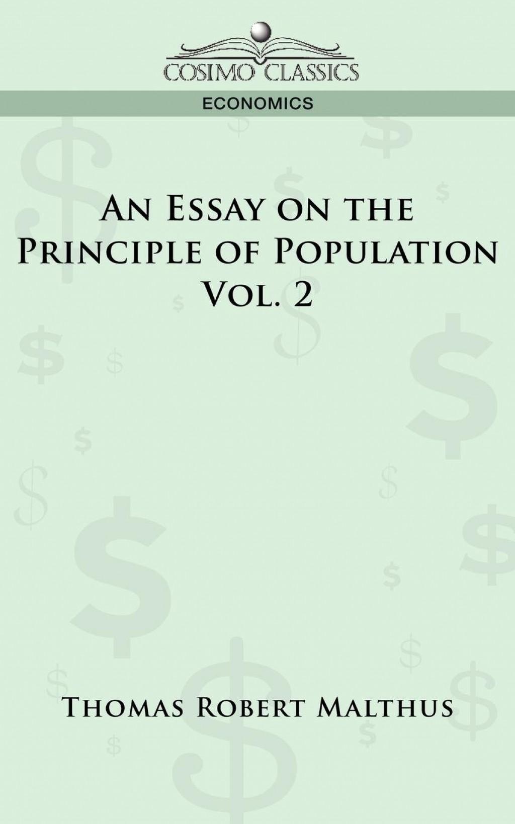 009 Essay On The Principle Of Population Example Singular Pdf By Thomas Malthus Main Idea Large
