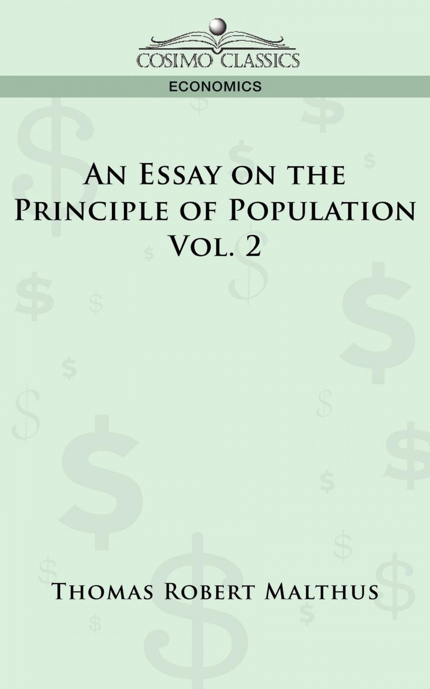 009 Essay On The Principle Of Population Example Singular Malthus Sparknotes Thomas Main Idea 1400