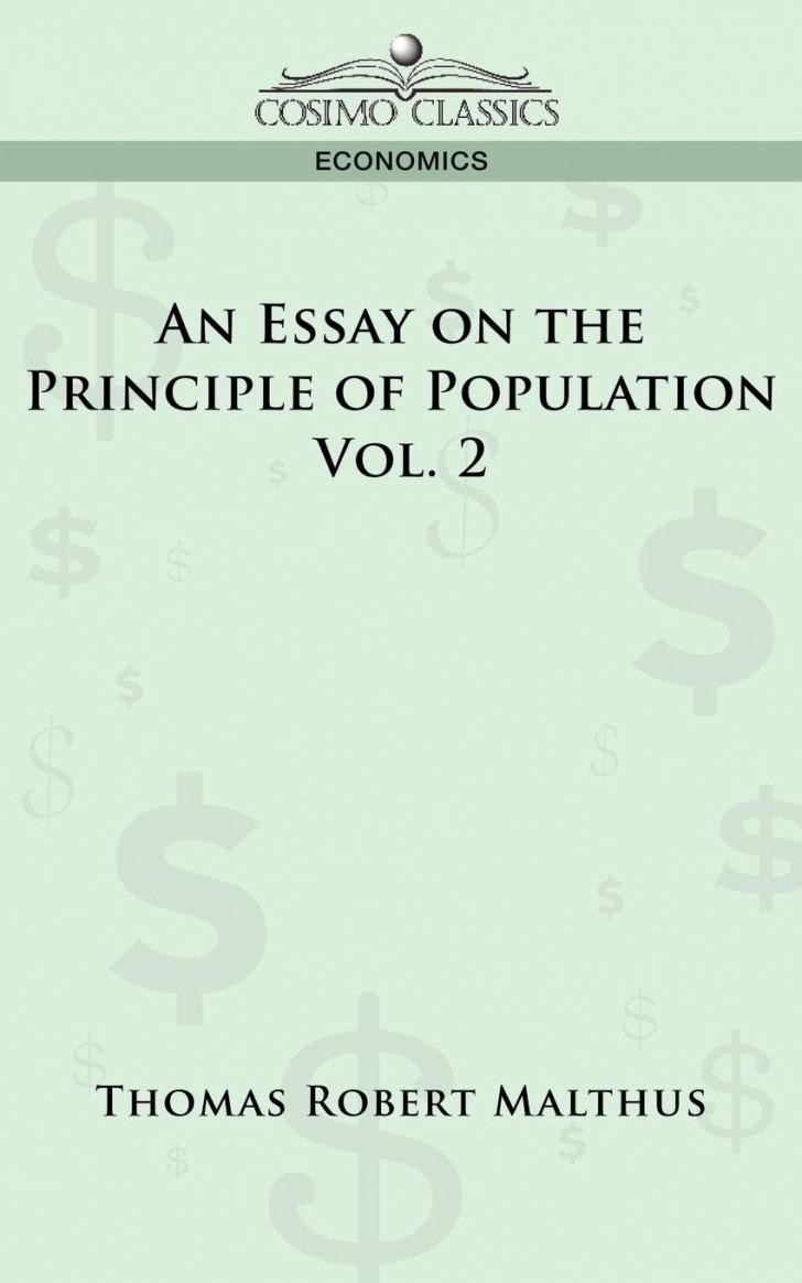 009 Essay On The Principle Of Population Example Singular Malthus Sparknotes Thomas Main Idea 728