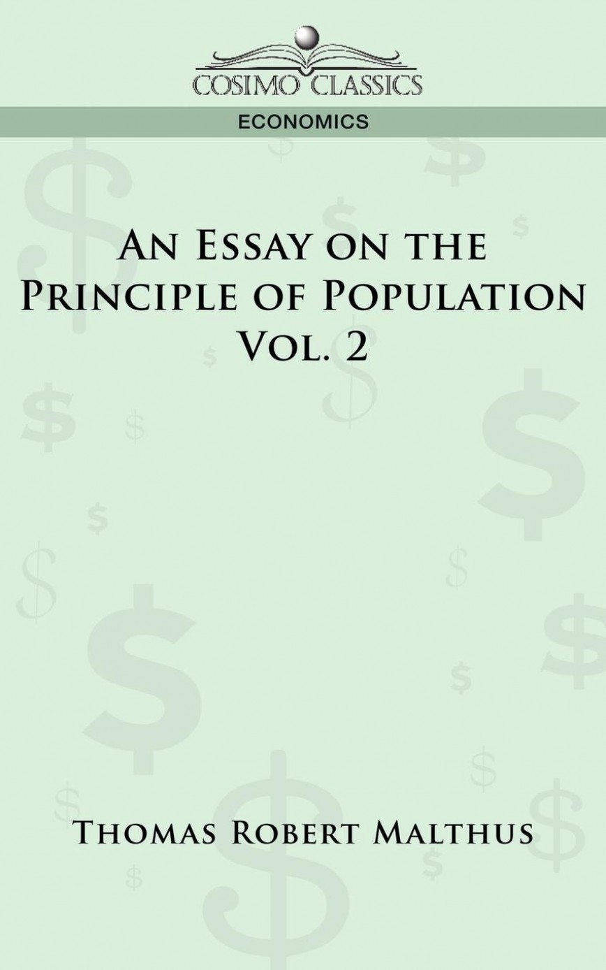 009 Essay On The Principle Of Population Example Singular A Summary View Pdf Ap Euro Thomas Malthus An Analysis