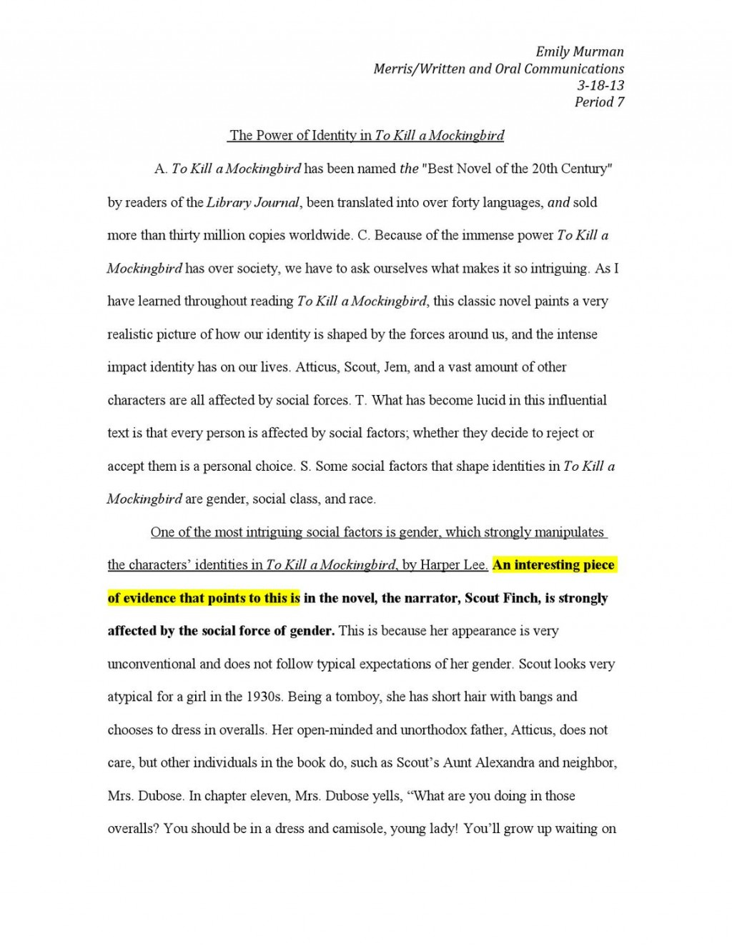 009 Essay Questions For To Kill Mockingbird Part Example Page 1 Impressive A Discussion Chapter 16 14 15 Large