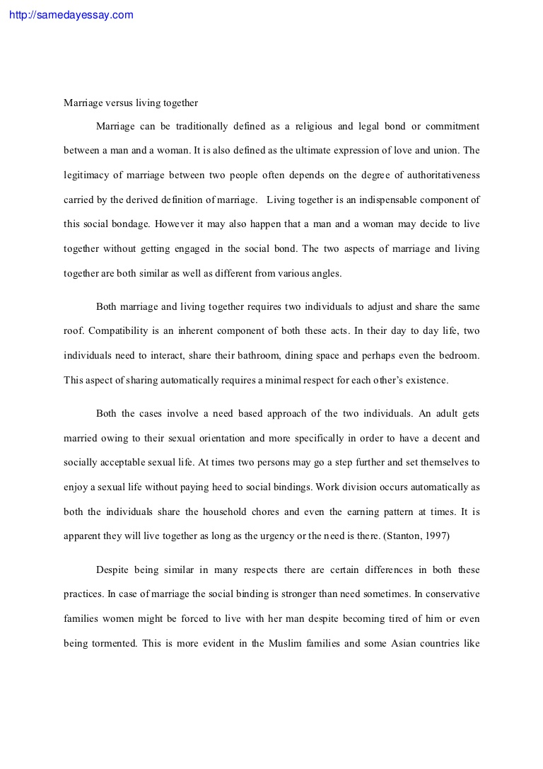 009 Essaymarriage Phpapp02 Thumbnail Essay Example Definition Surprising Examples Family Heroism Pdf