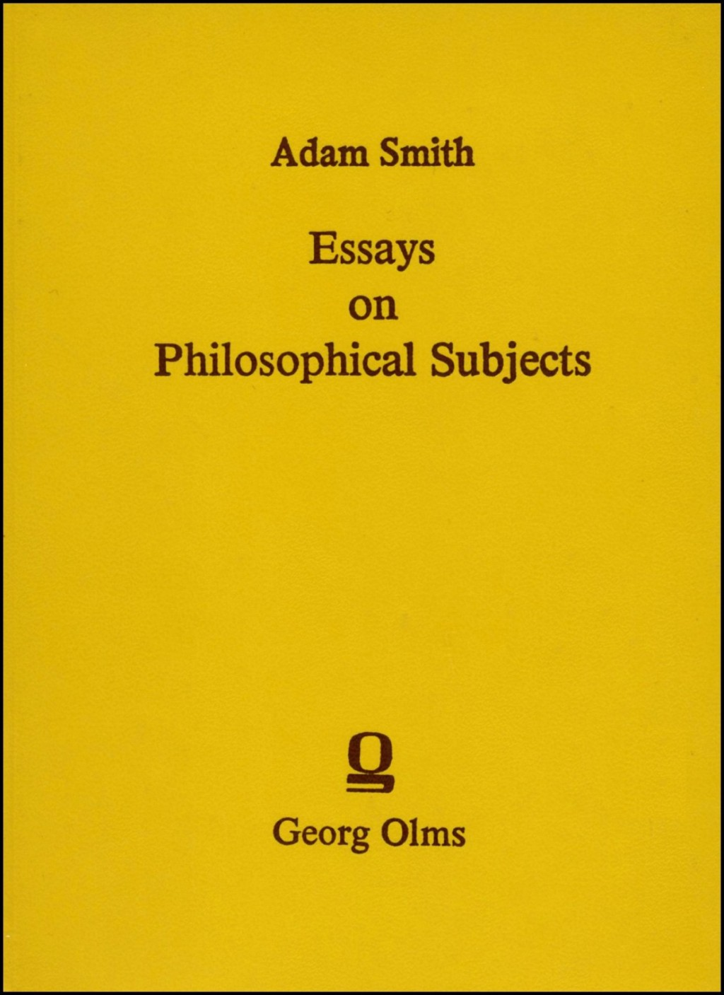 009 Essays On Philosophical Subjects Essay Example To Which Is Prefixed An Account Original Best Smith Pdf Large