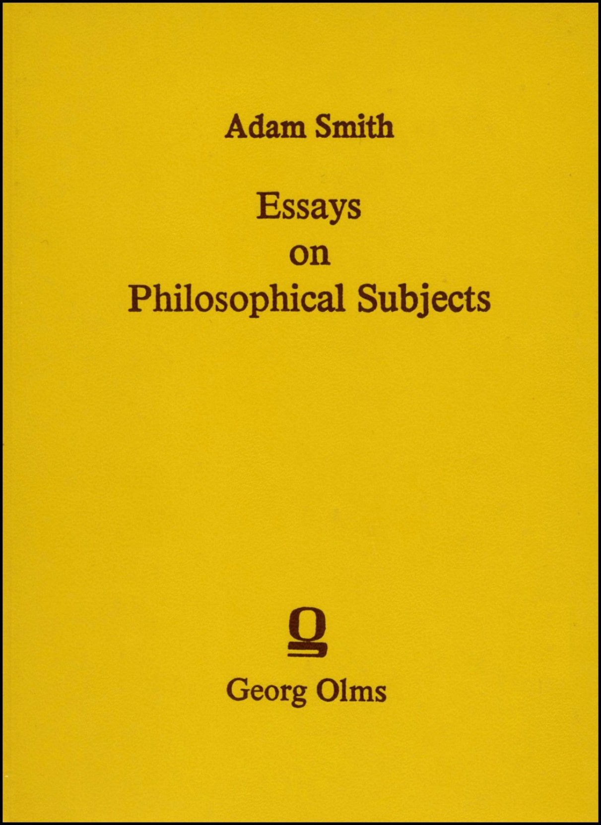 009 Essays On Philosophical Subjects Essay Example To Which Is Prefixed An Account Original Best Summary Adam Smith Full