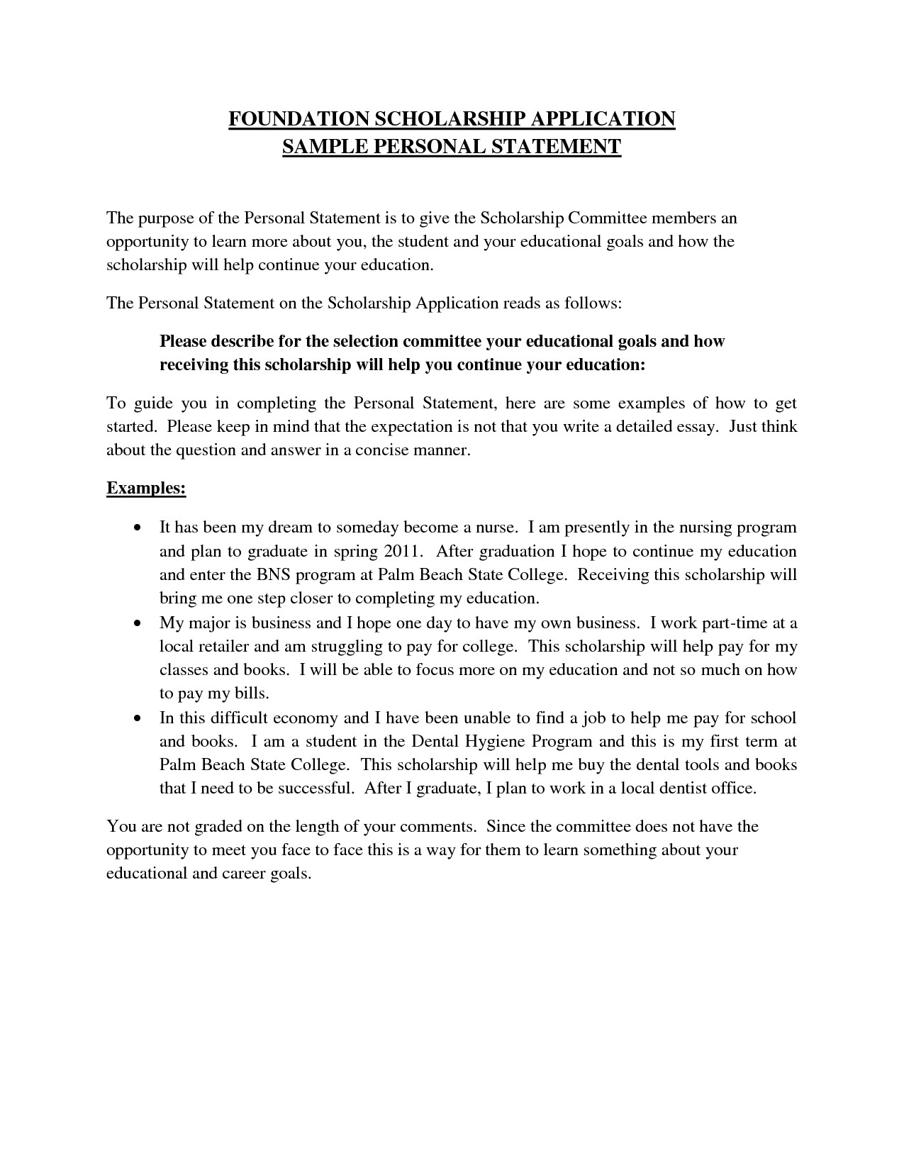009 Financial Need Essay Example Personal Letter Format For