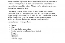 009 First Person Essay Example Creative Writing Pdf By