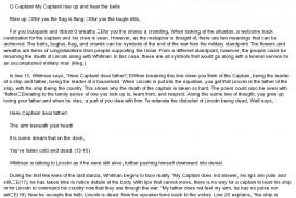 009 Fix My Essay Dies Ip Ideas Close Reading Of Oh Captain Correct Writing Singular College Generator Free Help