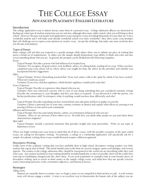 013 Essay Example How To Format College Application Examples
