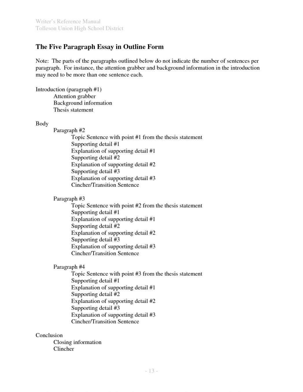 how to write paragraph essay persuasive template high school   how to write paragraph essay persuasive template high school writings  and essays format onwe bioinnovate co pertainin body outline opinion  argumentative