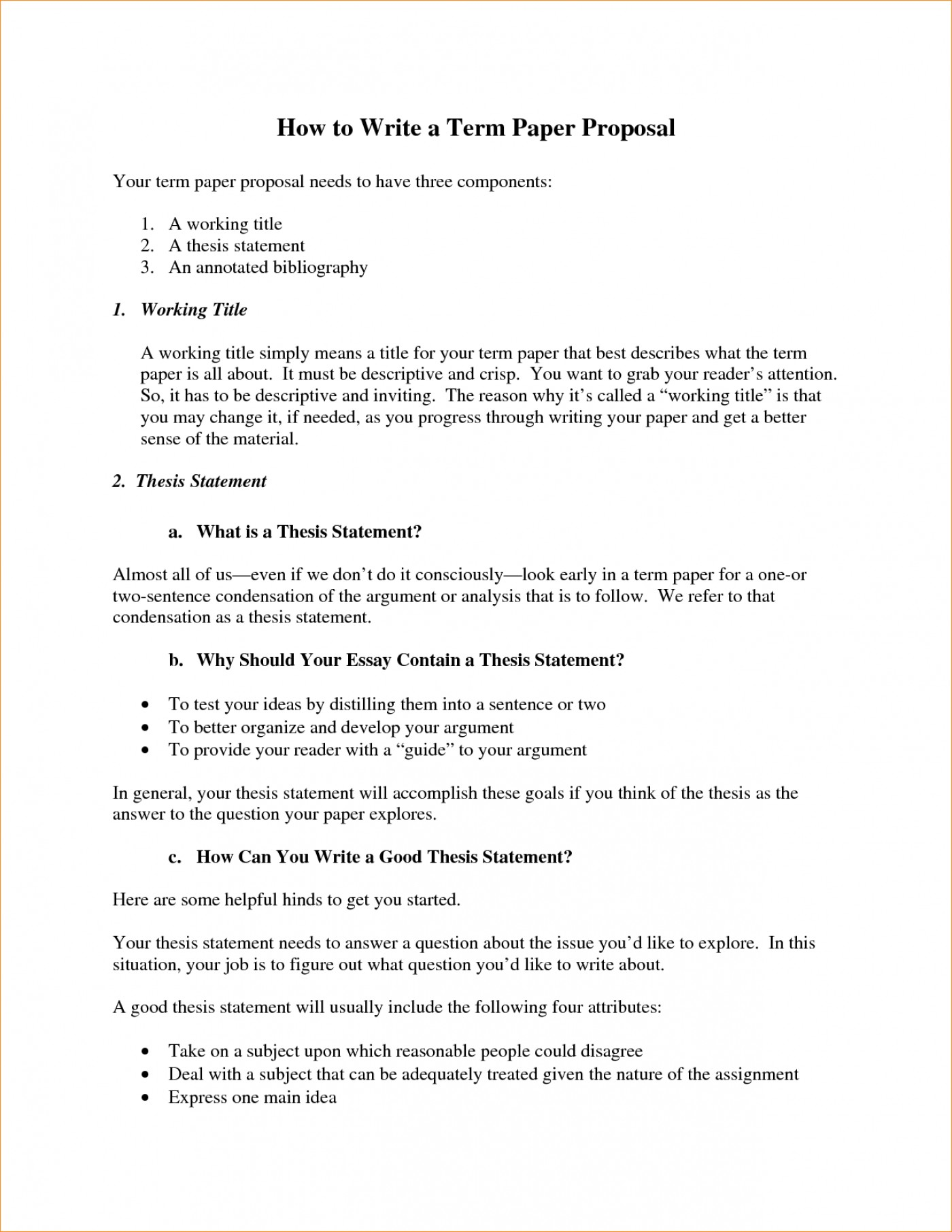 how to write a proposal for term paper