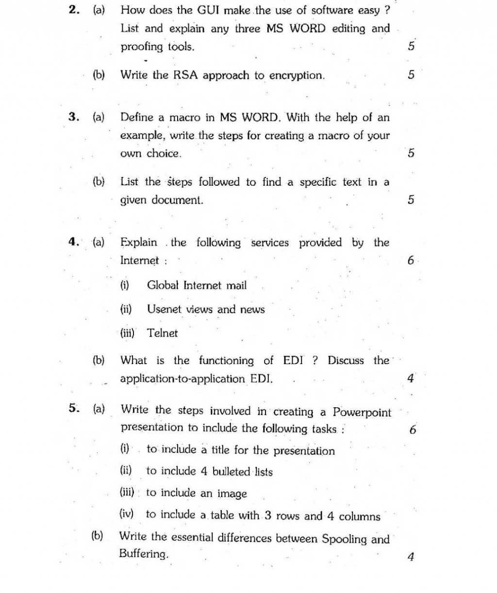 009 Ignou Computer Paper Grabbers For Essays Essay Imposing Good Interesting Attention College Large