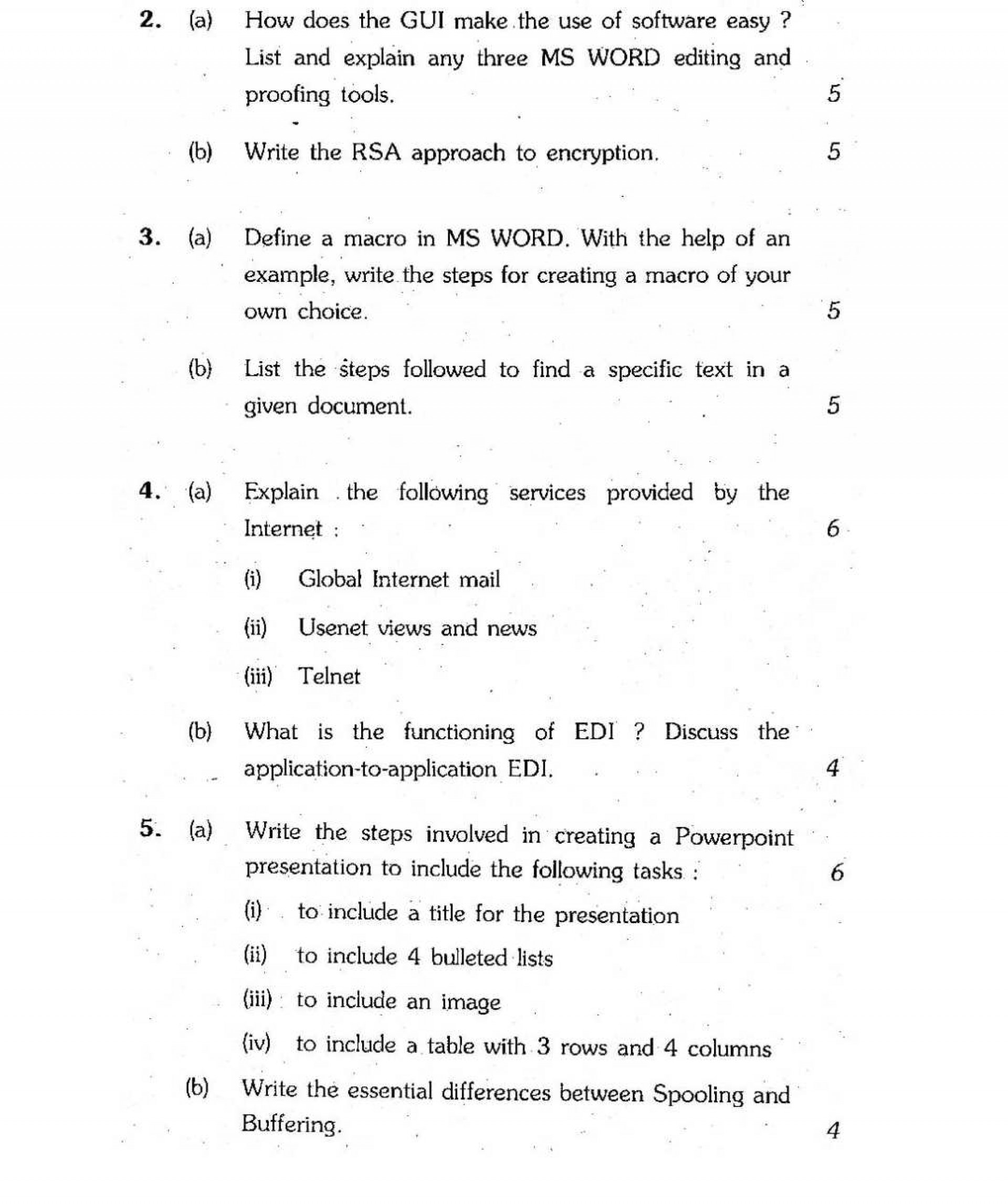 009 Ignou Computer Paper Grabbers For Essays Essay Imposing Good Interesting Attention College 1920