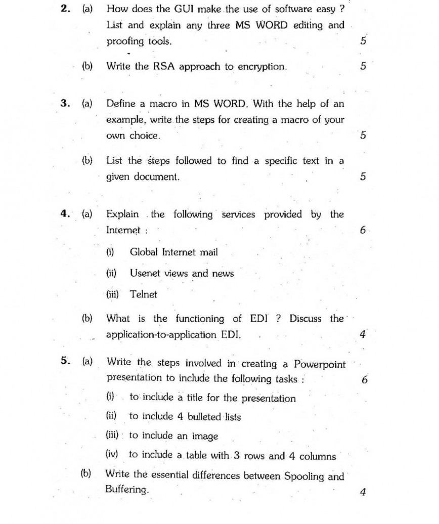 009 Ignou Computer Paper Grabbers For Essays Essay Imposing Attention Compare And Contrast Good Argumentative Persuasive