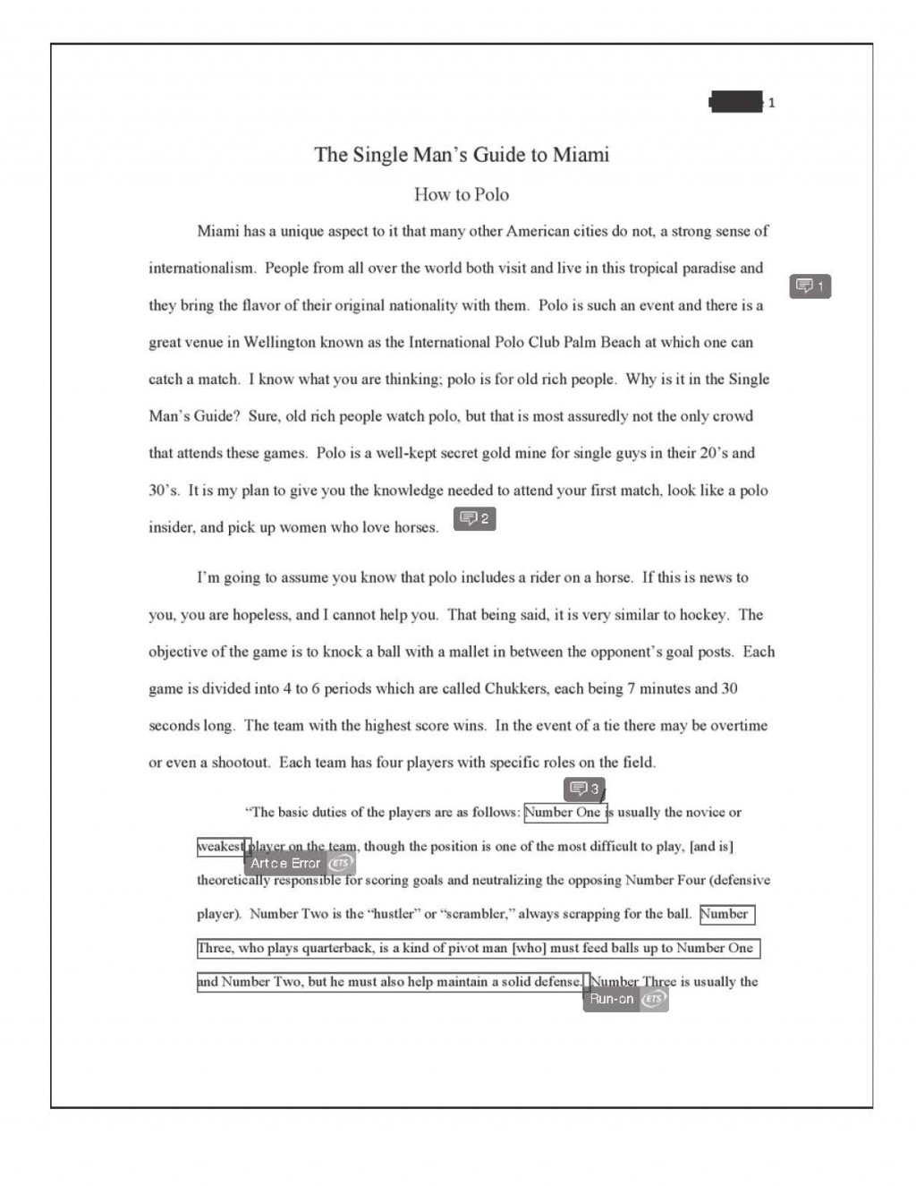 009 Informative Essay Final How To Polo Redacted Page 2 Example Introduction Frightening Examples Paragraph Large