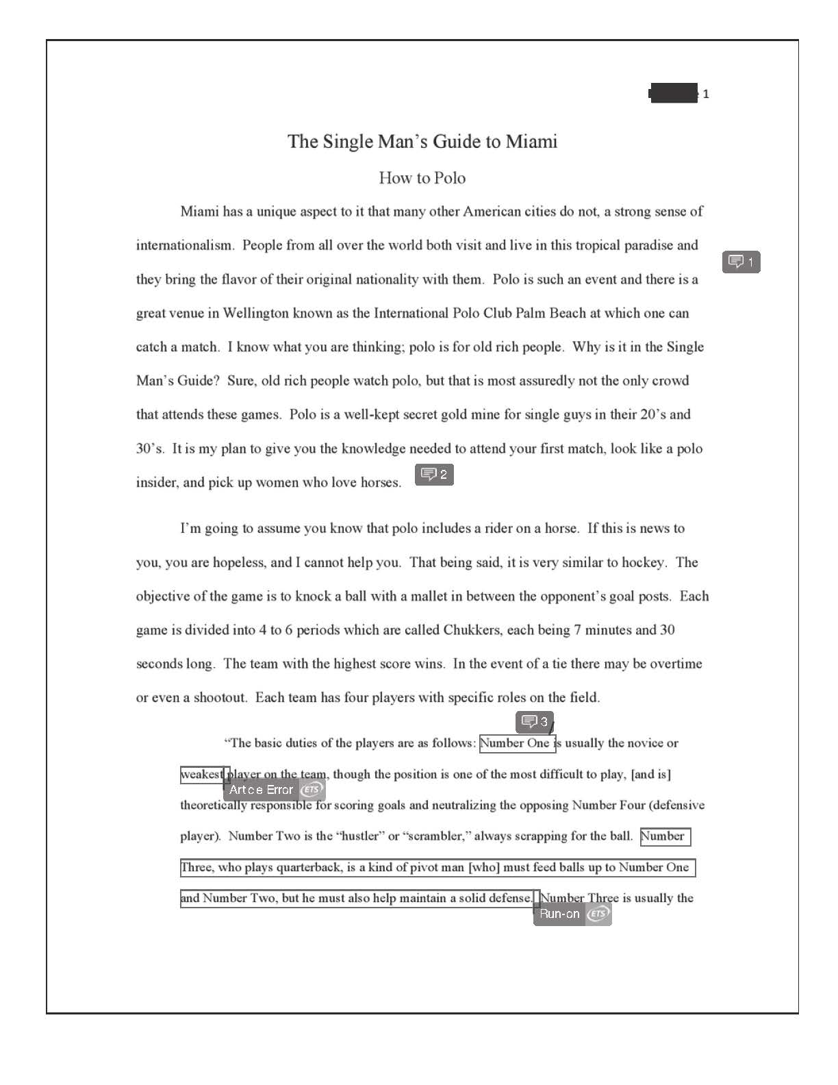 009 Informative Essay Final How To Polo Redacted Page 2 Example Introduction Frightening Examples Paragraph Full