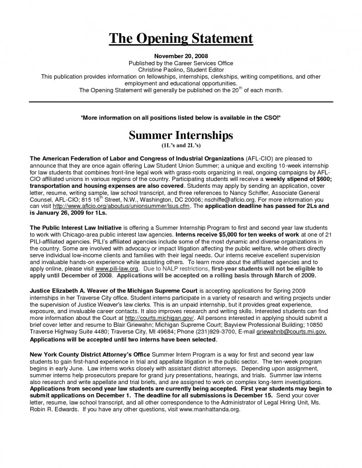 Internship essay sample