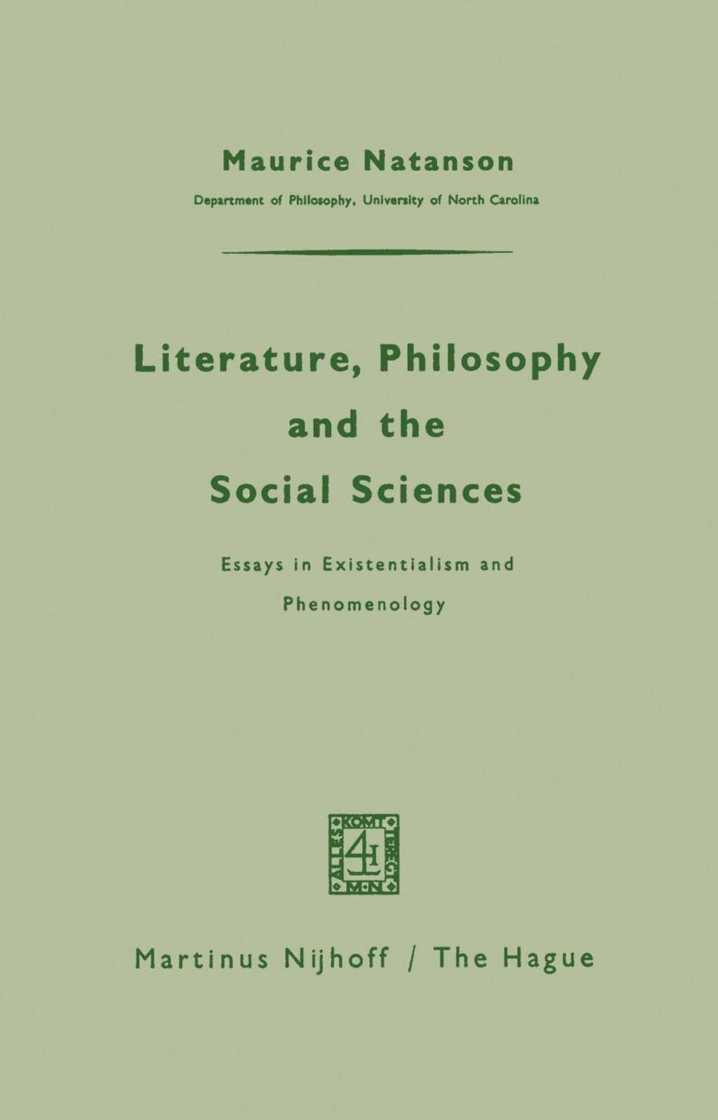 009 Literature Philosophy And The Social Sciences Essay Example Essays In Outstanding Existentialism Pdf Sartre Large