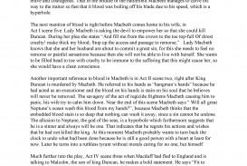 009 Macbeth Essay Sample Rutgers Application Fantastic Topics Example