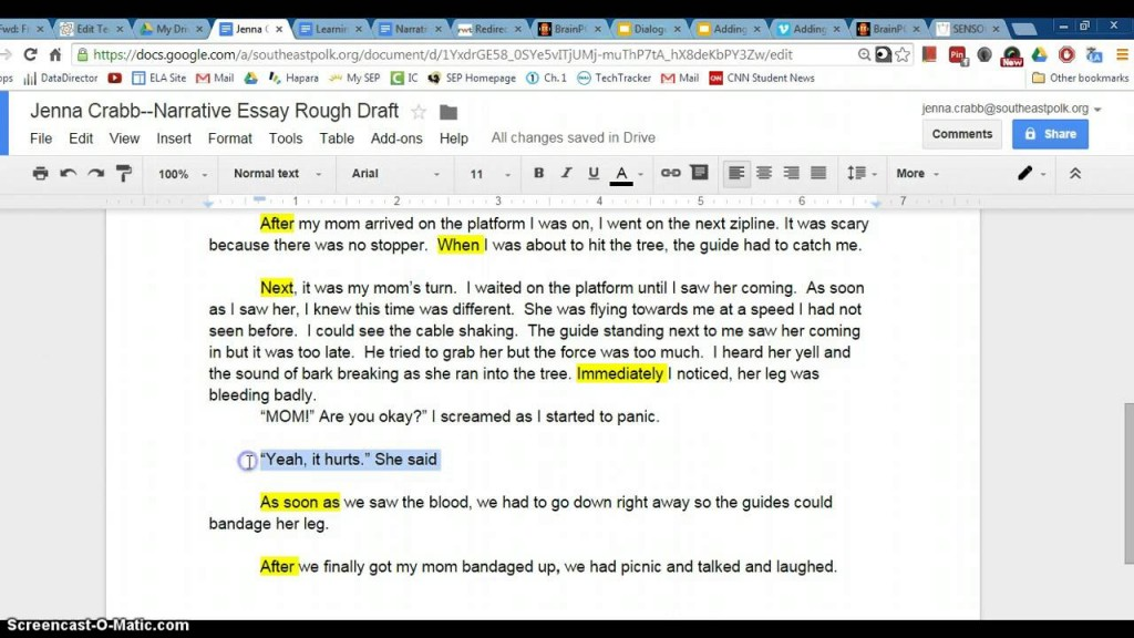 009 Maxresdefault Essay Example How To Write Dialogue In Singular An Between Two Characters Narrative Large