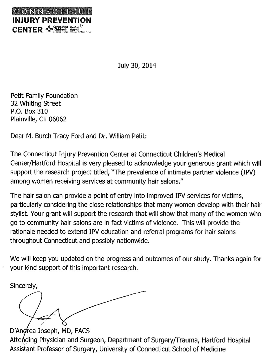 Thank You Letter For Receiving A Scholarship from www.thatsnotus.com