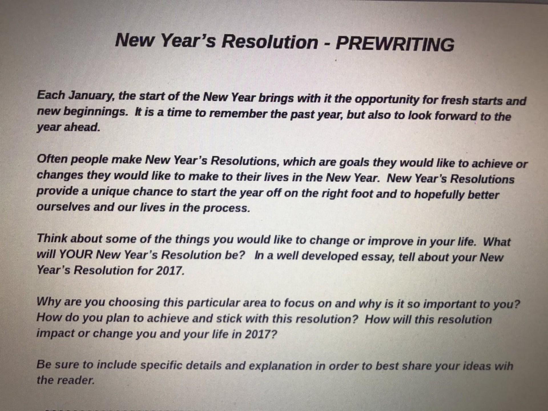 009 My New Year Resolution Essay C1qmqkevqaazf95 Singular High School Student 2019 For Class 5 1920