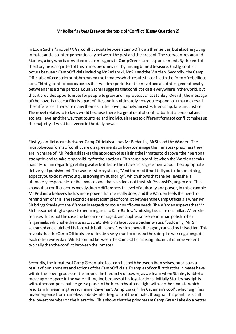009 Myconflictholesessayexemplar Thumbnail Conflict Essay Stupendous In The Pacific Questions Arab Israeli Romeo And Juliet Introduction Full