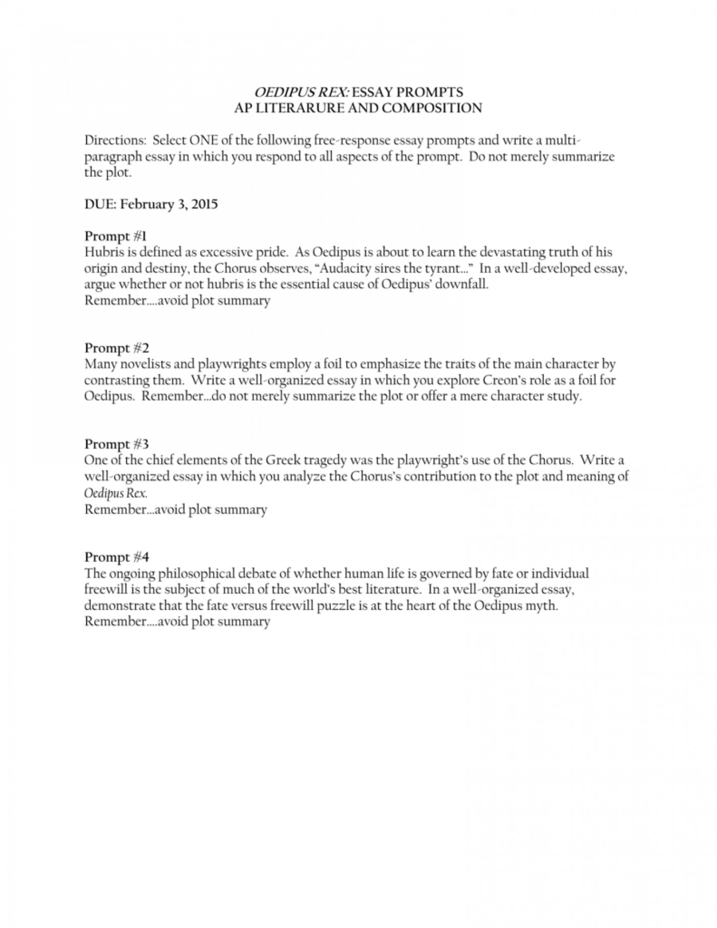 oedipus rex pride essay