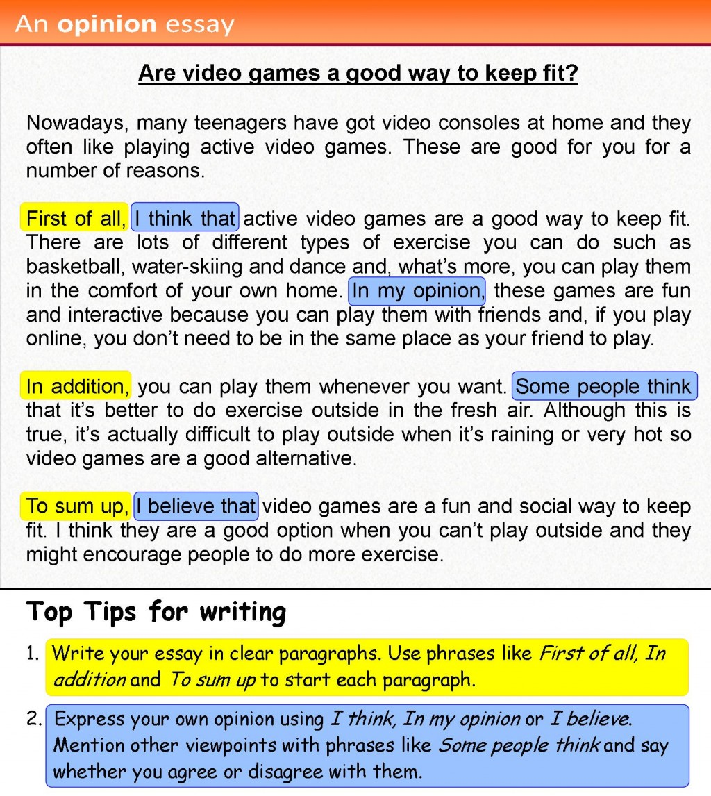 009 Opinion Essay 4 Example Tips To Write Marvelous A Good Narrative Persuasive In Exam Large