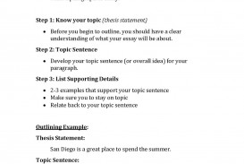 009 Outline Essay Example The20outlining20process Page 1 Frightening Template Apa Research Proposal
